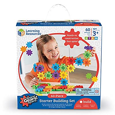 Learning Resources Gears! Gears! Gears! Starter Building Set, Early STEM, 60 Pieces, Ages 3+: Toys & Games
