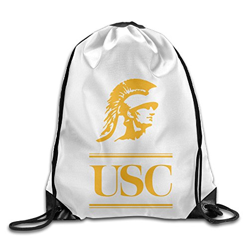 [Bekey Usc Trojans Football Logo Mascot Gym Drawstring Backpack Bags For Men & Women For Home Travel Storage Use Gym Traveling Shopping Sport Yoga] (Trojan Halloween Costumes)