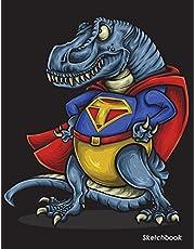 "Sketchbook: Dinosaur Trex Sketchbook For Kids Boys Teenagers, Tweens, Older & Girls, Zendoodle 8.5"" x 11"" Ages 2-4, 4-8, 9-12"
