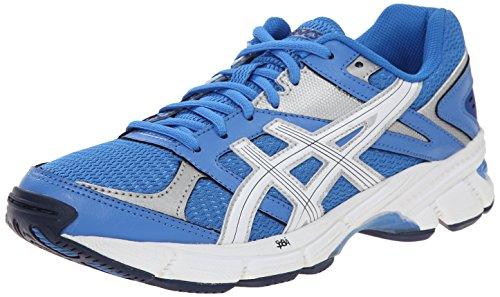 Asics GEL-190TR la capacitación de la mujer zapatos Light Blue/White/Silver