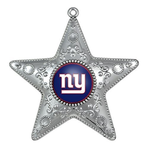 NFL New York Giants Silver Star Christmas Ornament