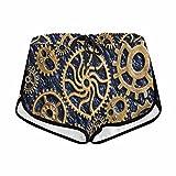 InterestPrint Women's Mechanical Cogs Gears Wheels Summer Casual Shorts M