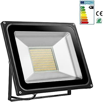 Foco proyector LED 20W/30W/50W/100W/150W/200W para exteriores, 1000LM-14000LM, Blanco frio 6000-6500K/Blanco cálido 2800K-3500K resistente al agua ...