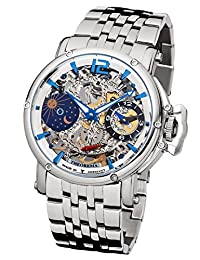 """Theorema - high quality mechanical wrist watch Copacabana """"All Silver"""" stainless steel with stainless steel strap, two year warranty - 17 Jewels - Made in Germany"""