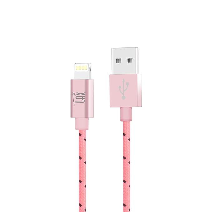iPhone Cargador Cable, LAX 6 ft Largo Apple MFI Certificado ...