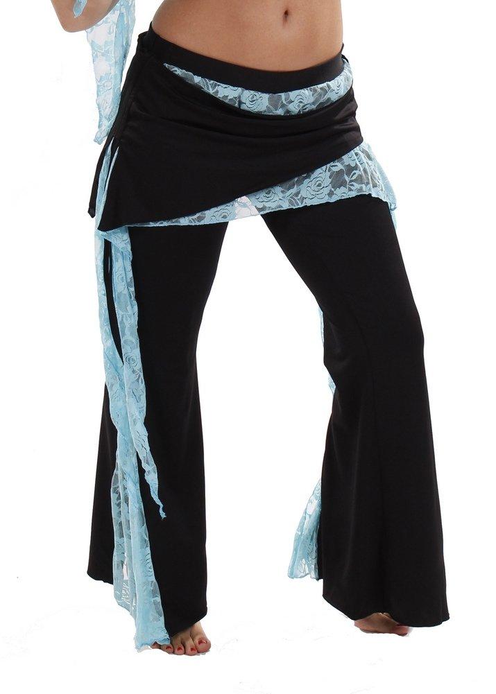 Miss Belly Dance danza del ventre in lycra e pizzo pantaloni alla turca | La Jenny JS Turquoise S/M HP94TURQ-SM-CA