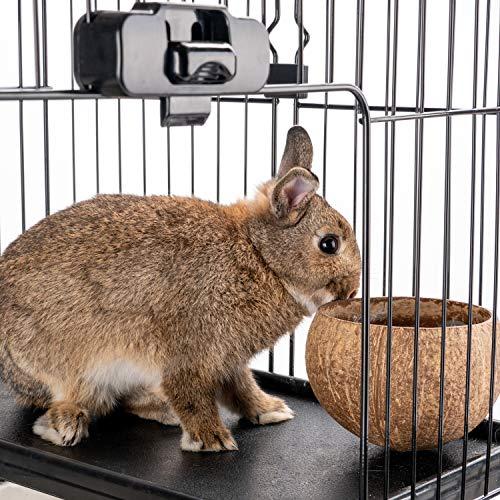 Niteangel Small Animals Feeding Bowls for Rabbit Chinchilla Chipmunk Suger Gliders Ferrets Rats Squirrel