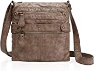 Angel Barcelo Crossover Purse and Handbags Crossbody Bags for Women,Ultra Soft Leather Neatpack Bag Shoulder P