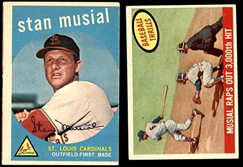 1959 Topps St. Louis Cardinals Team Set St. Louis Cardinals (Baseball Set) Dean's Cards 4 - VG/EX Cardinals
