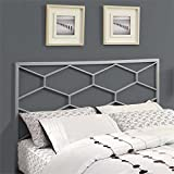 Monarch Combo Headboard/Footboard, Queen/Full, Silver