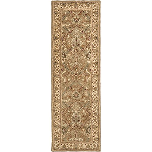 Safavieh Persian Legend Collection PL819A Handmade Traditional Light Green and Beige Wool Runner (2