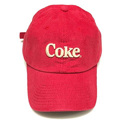 Cotton Vintage Corduroys (American Needle Curved Brim Coca-Cola Corduroy Slouch Vintage Cotton Baseball Cap, Strapback Hat)