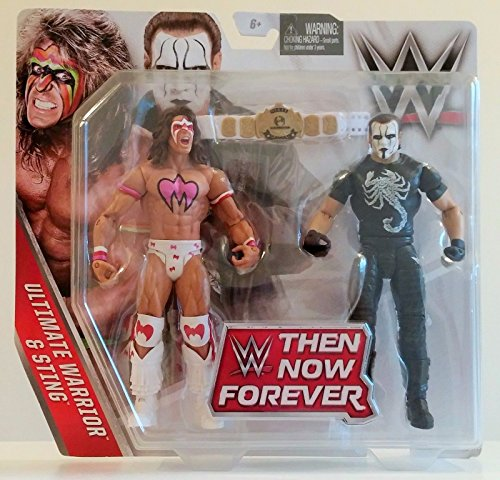 WWE, Basic Series, 2016 Then Now Forever, Ultimate Warrior and Sting Action Figures]()