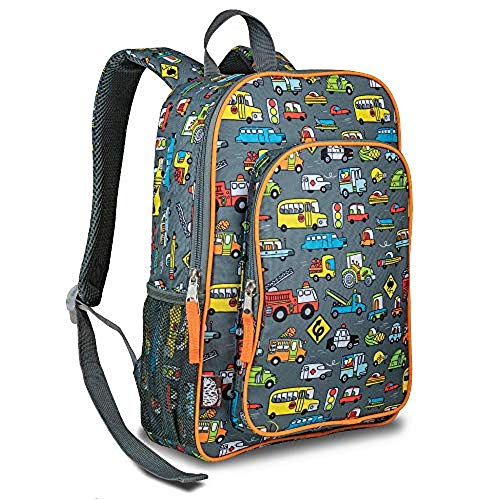 LONECONE Kids' Preschool and Kindergarten Backpack for Boys and Girls, Rush Hour