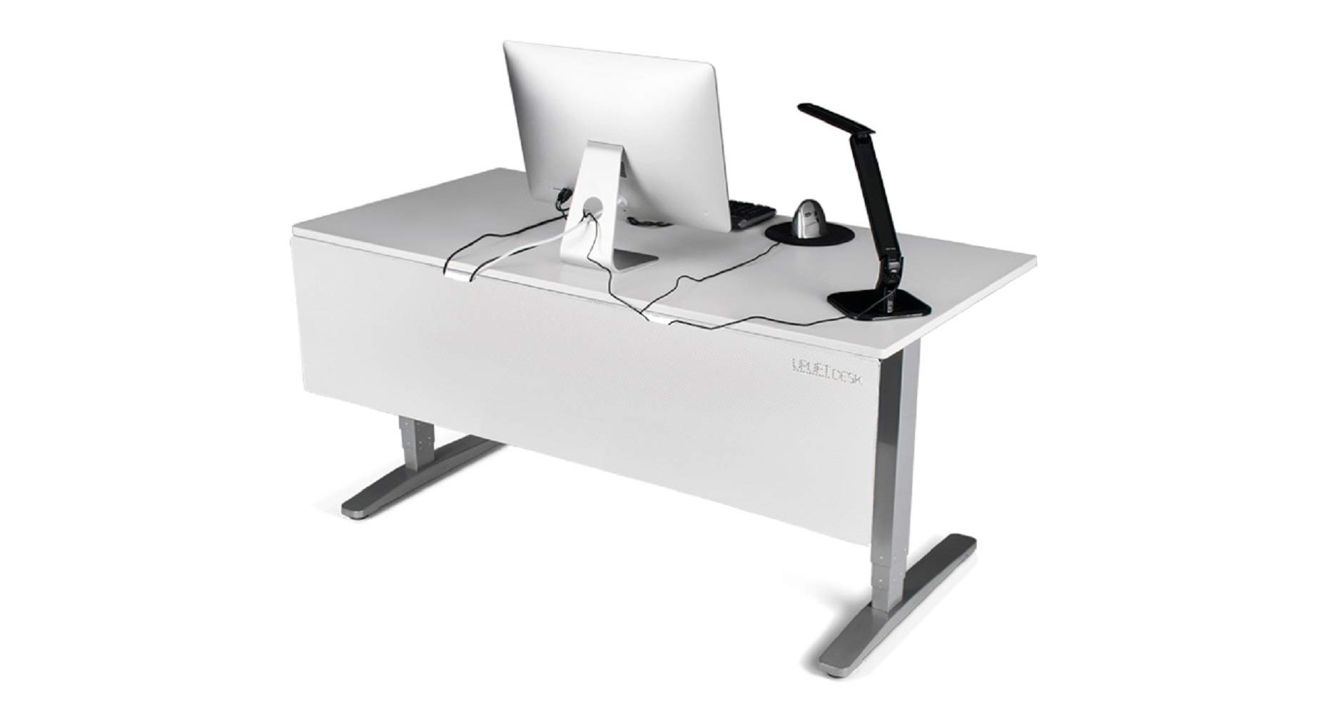 UPLIFT Desk - 29'' Modesty Panel with Wire Management (White) by UPLIFT Desk