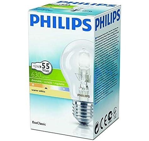 SES E14 de bajo consumo EcoClassic Paquete de 4 bombillas hal/ógenas Philips B35 42 W E14 18.00W 240.00V = 55 W