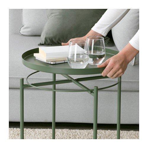 Ikea gladom Vassoio Tavolo in Verde Scuro; 45/x 53/cm