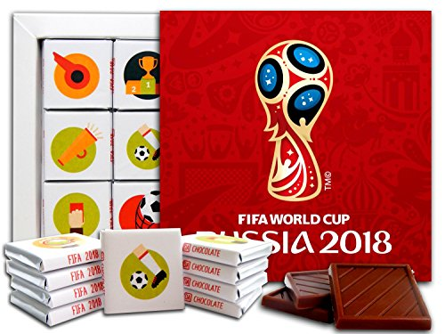 DA CHOCOLATE Candy Souvenir FIFA WORLD CUP RUSSIA 2018 Chocolate Gift Set 5x5in 1 box (Logo) (About In Christmas Facts England)