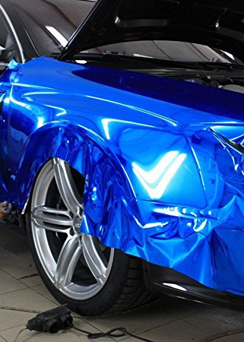 cromato Schermo Stretchable Verde Cromo per applicazione 3d car wrapping Pellicola a Specchio
