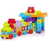 Mega Bloks - 81209 - Jouet De Premier Age - Mega Bloks - First Builders - Le Train 123
