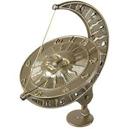 Whitehall Products Sun and Moon Sundial, Oil Rub Bronze