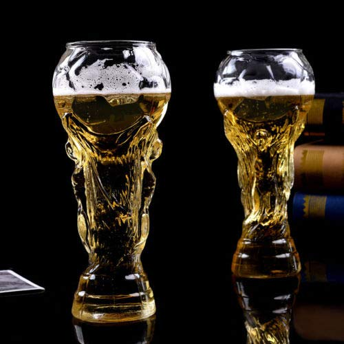 (2018 Fashionable World Cup High-Borosilicate Cocktail Beer Mug Trophy-shape Office Senior For Wedding Club Home Glass Available)