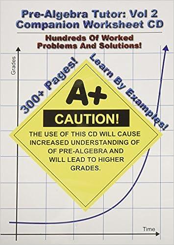 Pre-Algebra Tutor: vol 2 Companion Worksheet CD: Amazon.com: Books