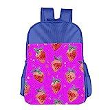 Kids Gift Strawberry Background Printing Kids Backpack School Bag Backpack Book Bag