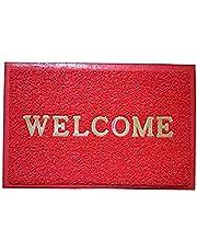 """دواسة باب بعبارة """"Welcome"""" من كوبر اندستريز، 20.6 × 14 بوصة، احمر"""