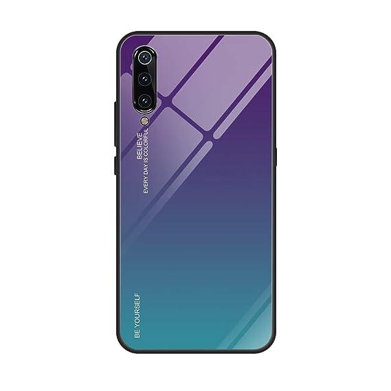 Amazon.com: Case for Xiaomi Mi 9 SE,Tempered Glass Back ...