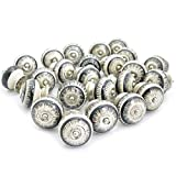 Pack of 25 Shetchy Round Vintage Kitchen Cabinet Cupboard Dresser Door Drawer Ring Pull Handles Knobs