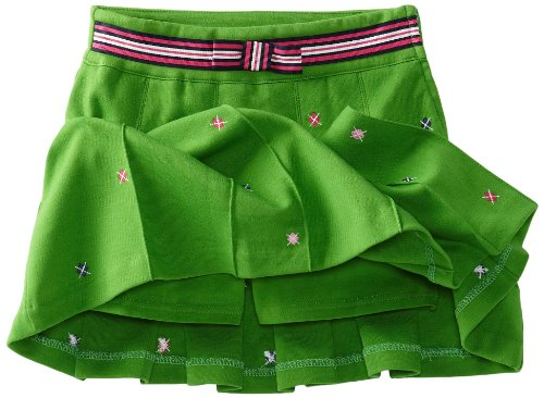 Hartstrings Big Girls' Big Pleated Knit Ponte Embroidered Skort