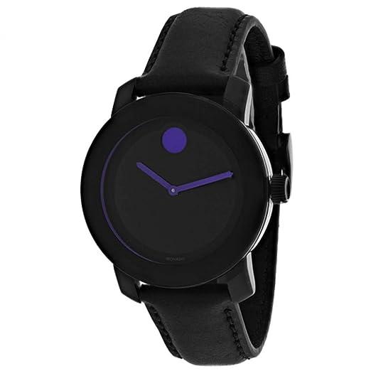 Movado Bold Reloj de Mujer Cuarzo 36mm Correa de Cuero Caja de Acero 3600528: Amazon.es: Relojes