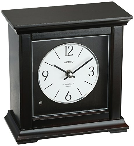 SEIKO Traditional Musical Desk/Table Clock - 7.25 in. Wide - Maple Traditional Table