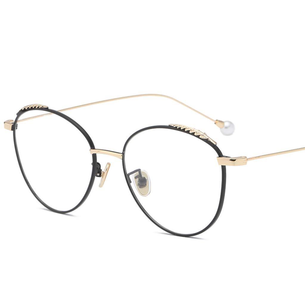 D Anti bluee Light Glasses, Metal Frame Clear Lens NonPrescription Eyes Glasses, Unisex (color   A)