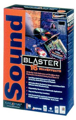 Creative Labs 16Bit-Dac 32-Voice Line Mic/Midi Interface ISA Waveffect Sound Blaster 16