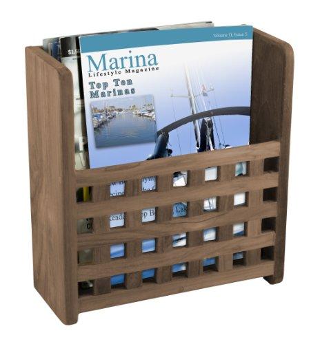 SeaTeak 62502 Grate Front Magazine Rack (Magazine Furniture Home)