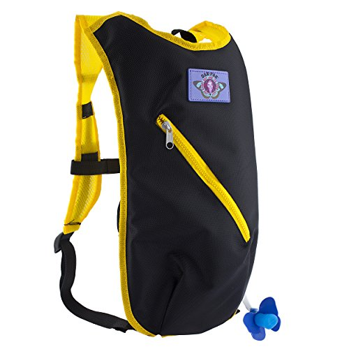Dan-Pak Hydration Pack 2l - Basic Bee -Perfect for Raves, Festivals, Hiking, Camping, Biking, and More!