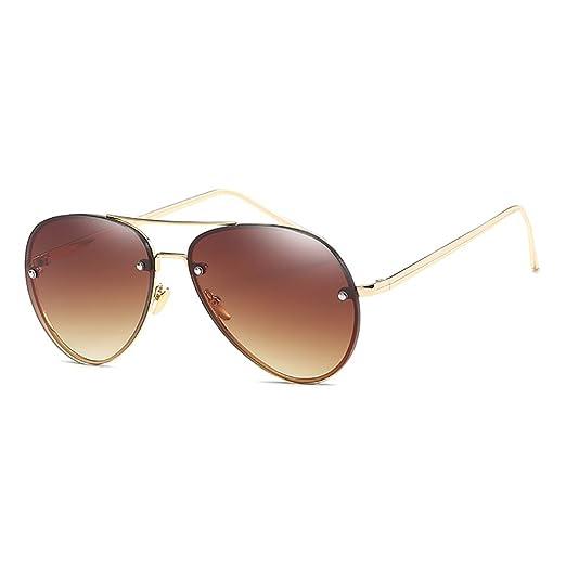 YUFENRA Lunettes de soleil polarisees Aviateur pour Hommes et Femmes Protection UV400 (cadre gris/lentille vert) xw4MYtb