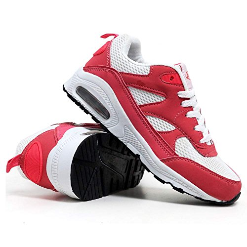 Ladies Air Absorbing Running 4 Size 5 Shock 6 3 Shoes Fitness 7 Tech Gym White Sports Coral 8 Trainers Womens ggBqF