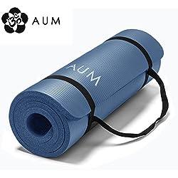 "AUM High Density HD Foam Tech Yoga Exercise Mat - 72"" x 24"" x 1/2"" - Royal Blue"
