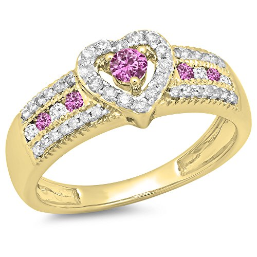 Diamond & Sapphire Heart Ring - 2