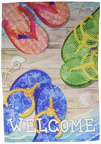 (Carson Home Accents FlagTrends 46869 Flip Flop Days Classic Outdoor Garden)