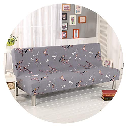 Universal Printing Armless Sofa Bed Cover Folding seat slipcover Modern Stretch Covers Couch Protector Elastic Futon Cover,6344,190-215cm