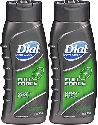 Men Hydrating Body Wash (Dial For Men Full Force Hydrating Body Wash - 16 oz - 2 pk)