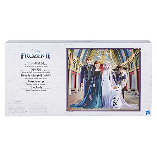 Disney Frozen 2 Frozen Finale Set, Anna, Elsa, Kristoff, Olaf, Sven Dolls with Fashion Doll Clothes and Accessories, Toy…