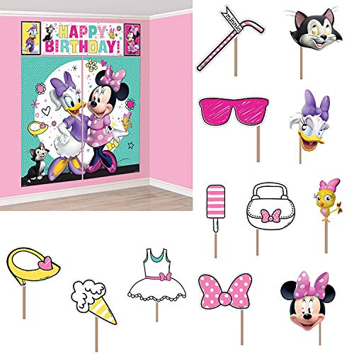 Minnie Mouse Banner (amscan Scene Setters with Props | Disney Minnie Mouse Happy Helpers Collection | Party)