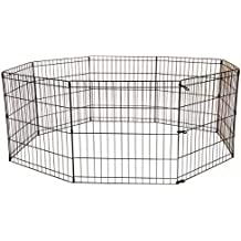 BestPet 30-Inch Tall Dog Playpen 8 Panel Crate Fence - Black