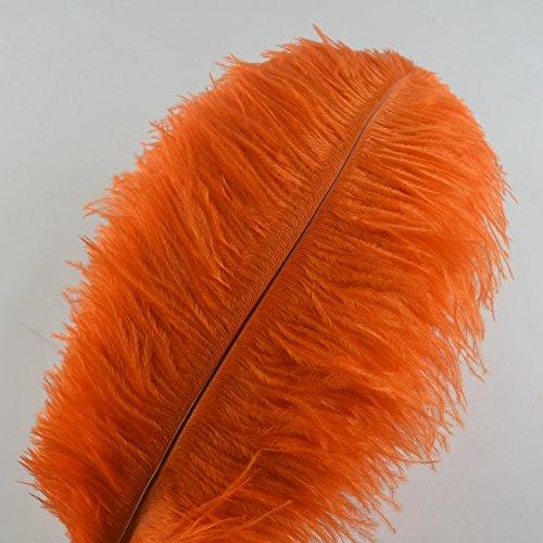 Sowder 10pcs Ostrich Feathers 12-14inch(30-35cm) for Home Wedding Decoration (Orange Ostrich)