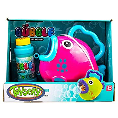 Startech trading Fish Bubble Machine | 1000s of Bubbles in Minutes | Comes with Bubble Solution | No Batteries Needed | Hours of Entertainment for Kids | Best for Gifting Purpose (Pink): Toys & Games